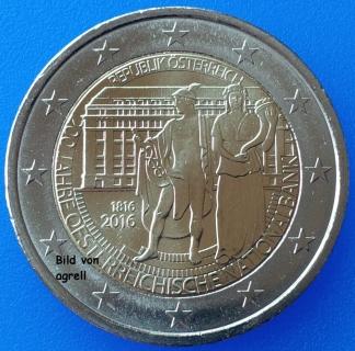 2 Euro Gedenkmünze österreich 2016 200 Jahre österreichische