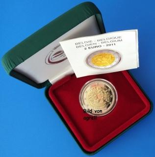 2 Euro Gedenkmünze Belgien 2011 100 Jahre Internationaler Frauentag