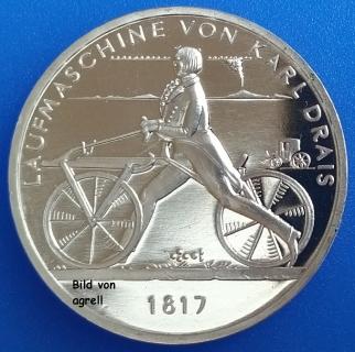 20 Euro Münze Deutschland 2017 Laufmaschine Von Karl Drais 1817