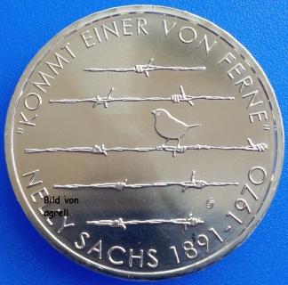 20 Euro Münze Deutschland 2016 125 Geburtstag Von Nelly Sachs