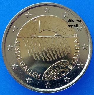 2 Euro Gedenkmünze Finnland 2015 150 Geburtstag Von Akseli Gallen