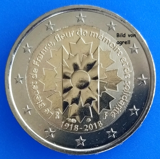 2 Euro Gedenkmünze Frankreich 2018 Kornblume Von Frankreich