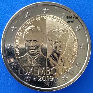 2 Euro Gedenkmünze Luxemburg 2019 100 Jahrestag Der Thronbesteigung