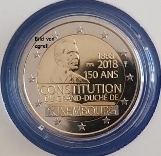 2 Euro Gedenkmünze Luxemburg 2018 150 Jahrestag Der Luxemburger