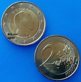 2 Euro Münze Monaco 2015 Stempelglanz Stgl Euromuenzen Agrelleu