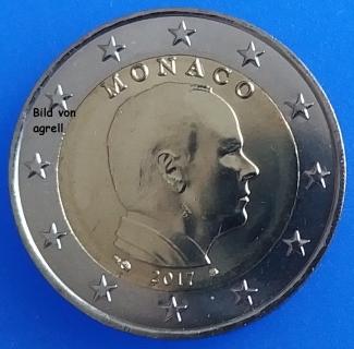 2 Euro Münze Monaco 2017 Stempelglanz Stgl Euromuenzen Agrelleu