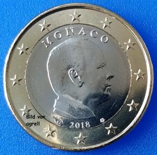 1 Euro Münze Monaco 2018 Stempelglanz Stgl Euromuenzen Agrelleu