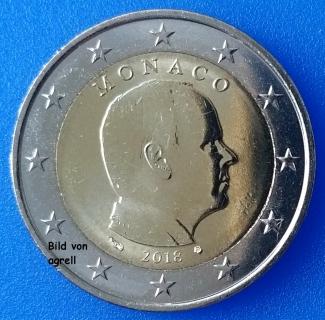 2 Euro Münze Monaco 2018 Stempelglanz Stgl Euromuenzen Agrelleu