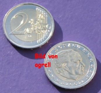 2 Euro Münze Monaco 2002 Stempelglanz Stgl Euromuenzen Agrelleu