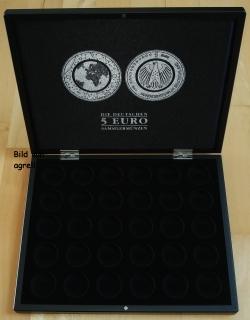 Münzenkassette Mit Samteinlage Für 30 X 5 Euro Münzen 1 Set Planet