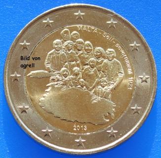2 Euro Gedenkmünze Malta 2013 Einführung Der Selbstverwaltung 1921
