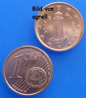 1 Cent coin San Marino 2012 uncirculated