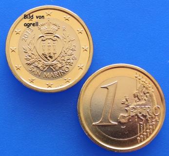 1 Euro Coin San Marino 2013 Bu Euromuenzen Agrelleu