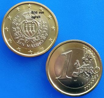 1 Euro Münze San Marino 2014 Stempelglanz Stgl Euromuenzen