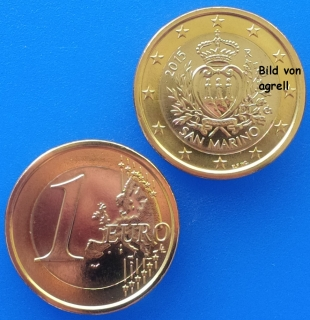 1 Euro Münze San Marino 2015 Stempelglanz Stgl Euromuenzen