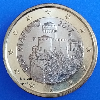 1 Euro Münze San Marino 2017 Stempelglanz Stgl Euromuenzen