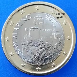 1 Euro Münze San Marino 2018 Stempelglanz Stgl Euromuenzen