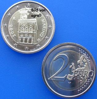 2 Euro Münze San Marino 2008 Stempelglanz Stgl Euromuenzen