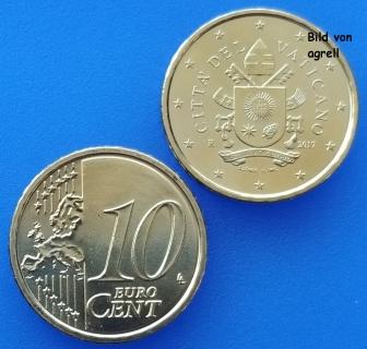 10 Cent Münze Vatikan 2017 Stempelglanz Stgl Euromuenzen Agrelleu
