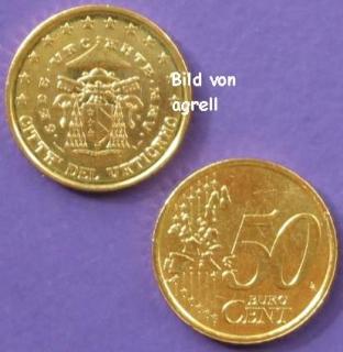 50 Cent Münze Vatikan 2005 Sede Vacante Stempelglanz Stgl