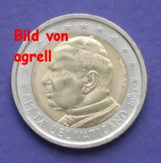 2 Euro Münze Vatikan 2002 Stempelglanz Stgl Euromuenzen Agrelleu