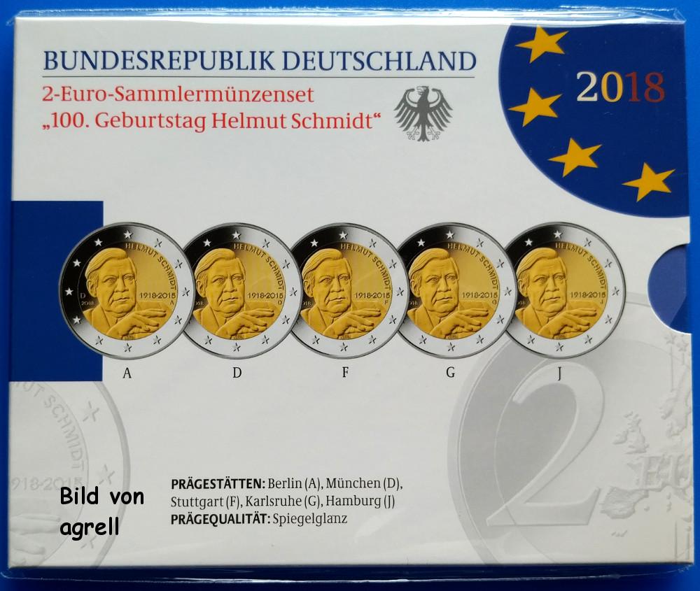 2 euro gedenkm nze deutschland 2018 100 geburtstag von. Black Bedroom Furniture Sets. Home Design Ideas
