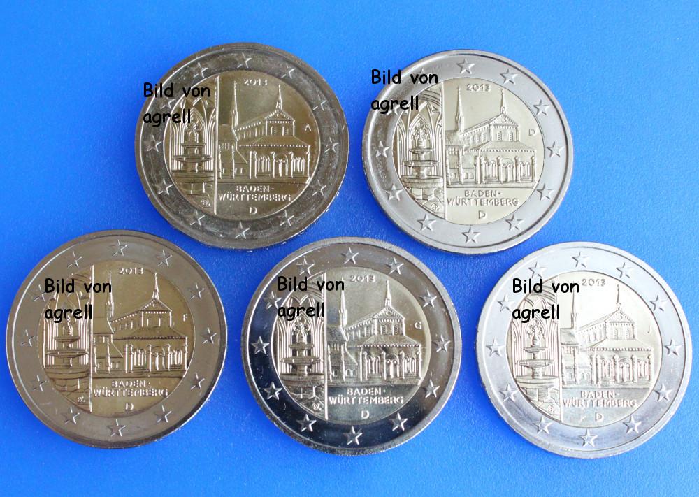 2 euro gedenkm nze deutschland 2013 baden w rttemberg. Black Bedroom Furniture Sets. Home Design Ideas
