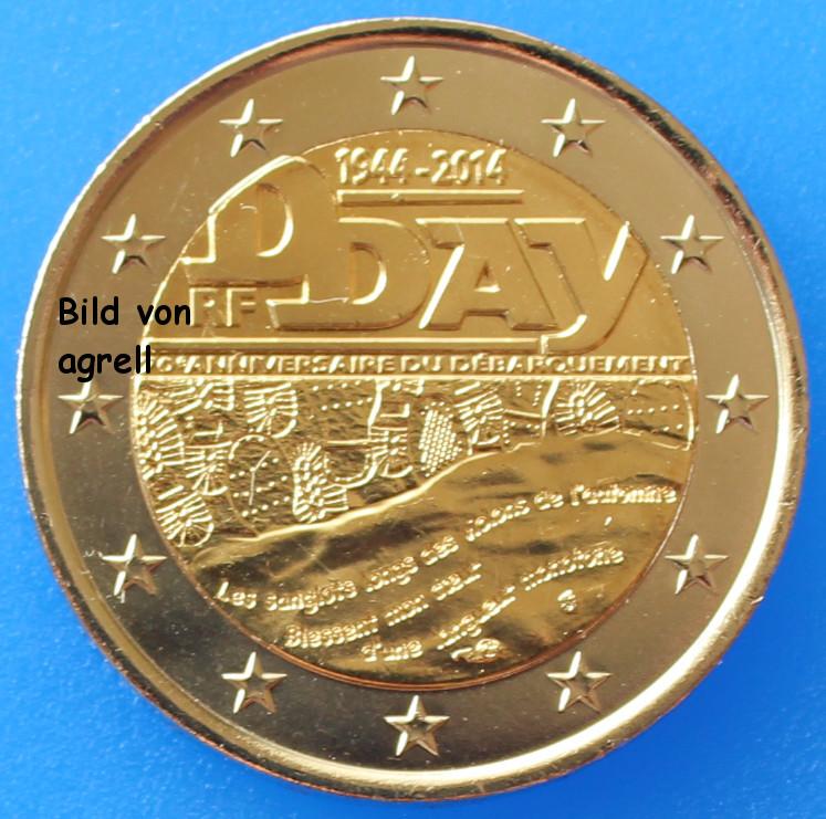 2 euro gedenkm nze frankreich 2014 70 jahrestag des d for Wohnwand 70 euro