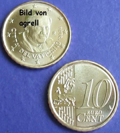 10 Cent Münze Vatikan 2008 Stempelglanz Stgl Euromuenzen Agrelleu