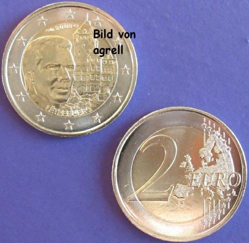2 euro gedenkm nze luxemburg 2008 ch teau de berg. Black Bedroom Furniture Sets. Home Design Ideas